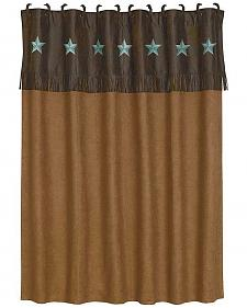 HiEnd Accents Turquoise Laredo Shower Curtain