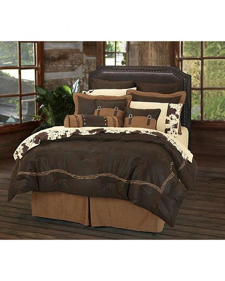 HiEnd Accents Embroidered Barbwire 7-Piece King Comforter Set
