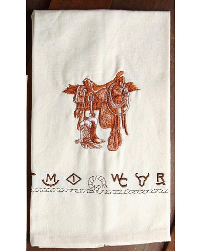 Handy Towels For Your Western Kitchen. Ivory Hue With Brown Western  Embroidered Designs. Set Of Four. A Kitchen Towel Ideal For Your Western  Kitchen.