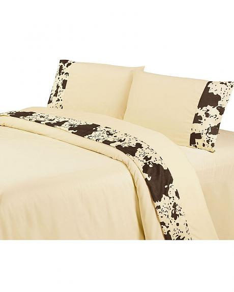 HiEnd Accents Printed Cowhide 4-Piece Queen Sheet Set