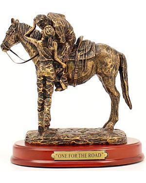 "Western Moments ""One For The Road"" Statue"