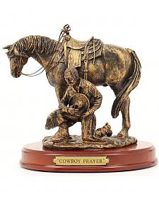 "Western Moments ""Cowboy Prayer"" Statue"