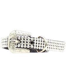 Blazin Roxx Rhinestone Mesh Dog Collar - XS/S