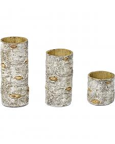 HiEnd Accents Birch Candle Holders - Set of 3