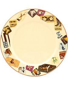 M&F Western Retro Western Salad Plate - 4 Piece