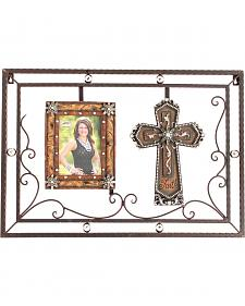 M&F Western 5x7 Metal Cross Picture Frame