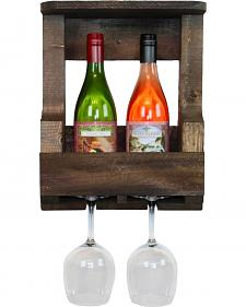 Delighted Home Original 2 Bottle Wine Shelf with 2 Glass Holder