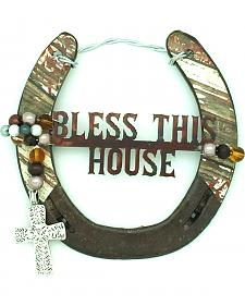 Lucky Horse Co. Bless This House Horseshoe Wall Decor