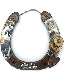 Lucky Horse Co. Vintage Cowgirl Horseshoe Wall Decor