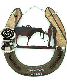 Lucky Horse Co. To The Moon and Back Horseshoe Wall Decor