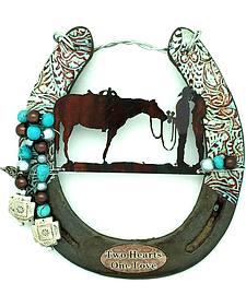 Lucky Horse Co. Two Hearts Horseshoe Wall Decor