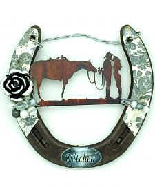 Lucky Horse Co. Hitched Horseshoe Wall Decor
