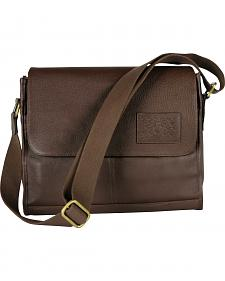 Designer Concealed Carry Brown iBag Messenger Bag