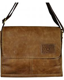 Designer Concealed Carry Taupe iBag Messenger Bag