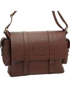Designer Concealed Carry Brown Transporter Messenger Bag