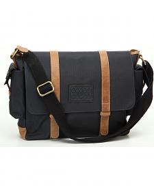 Designer Concealed Carry Navy Transporter Messenger Bag