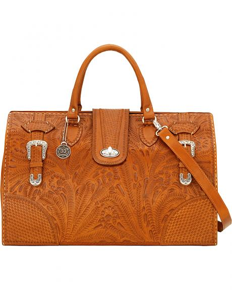 American West Women's Tan 30th Anniversary Large Coach Bag