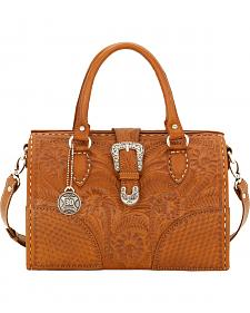 American West Women's Tan 30th Anniversary Medium Hard-Sided Doctor's Bag