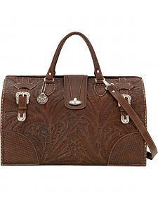 American West Women's Brown 30th Anniversary Large Coach Bag