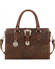 American West Women's Brown 30th Anniversary Medium Hard-Sided Doctor's Bag