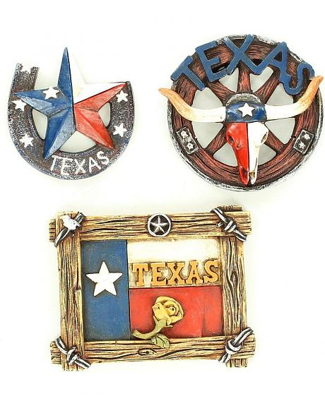 Western Moments Texas Magnets - Set of 3