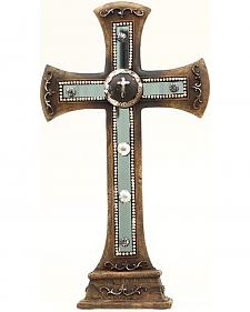 Western Moments Concho Studded Table Cross