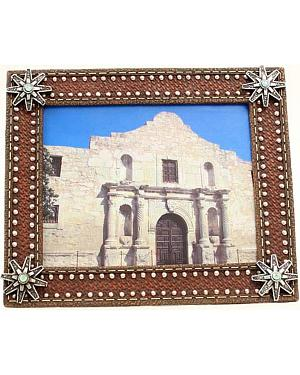 "Western Moments Basketweave Spur Rowel Photo Frame - 8"" x 10"""