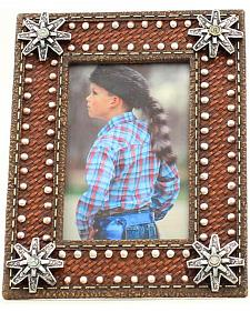 "Western Moments Basketweave Spur Rowel Photo Frame - 4"" x 6"""