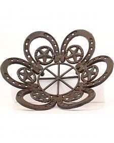 Western Moments Cast Iron Horseshoe & Star Fruit Bowl