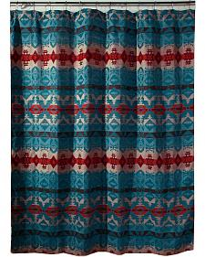 Carstens Turquoise Chamarro Shower Curtain