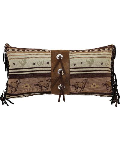 Carstens Brown Mustang Concho Pillow Western & Country JB4176