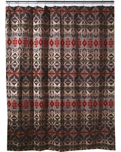 red and tan shower curtain. Carstens Montana Shower Curtain  Lovely bathroom decor by Brown green red tan blue western design throughout Buttonhole top Horse Curtains HaiHorsie com