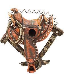 Western Moments Horse Saddle Birdhouse