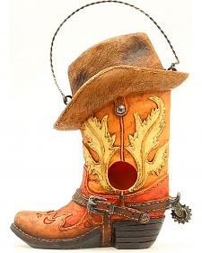 Western Moments Cowboy Boot & Hat Birdhouse