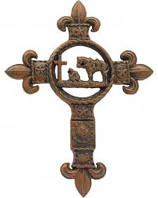 Western Moments Cast Iron Praying Cowboy Wall Cross