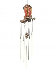 Western Moments Cowboy Boot Wind Chime