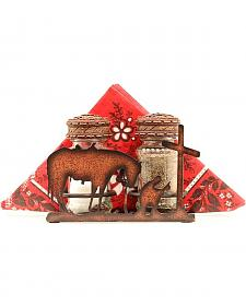 Western Moments Praying Cowboy Salt & Pepper Shaker Napkin Caddy