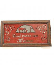 Western Moments Rustic Mirror God Bless Our Home Wall Decor