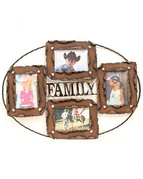 Western Moments Rustic Family Collage Photo Frame