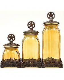 Western Moments Silverado Western Star Canisters - Set of 3