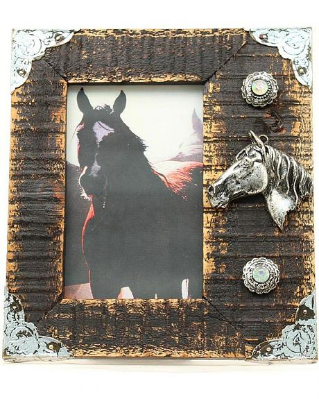 Western Moments Rustic Wooden Horse Head Photo Frame - 4
