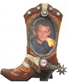 "Western Moments Cowboy Boot Photo Frame - 4"" x 6"""