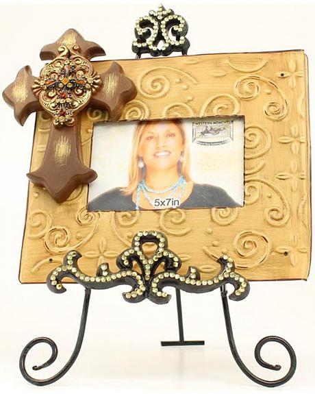 Western Moments Cross Photo Frame with Easel - 5