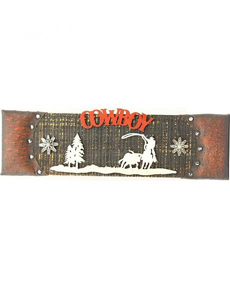 Western Moments Wooden Cowboy Sign