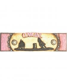 Western Moments Wooden Cowgirl Sign