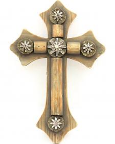 Western Moments Spur Rowel Wooden Wall Cross