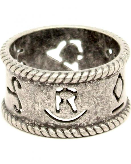 Western Moments Silver Branded Rope Napkin Rings - Set of 4