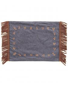 Western Moments Branded Denim Placemats - Set of 4