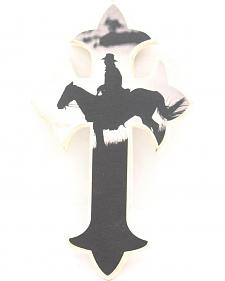 Western Moments Cowboy Silhouette Wall Cross