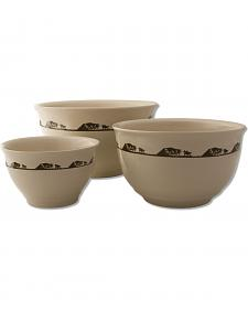 Moss Brothers 3-Piece Running Horses Mixing Bowl Set